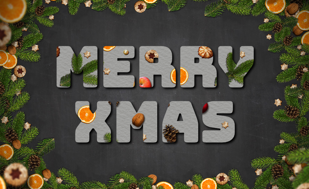 free online text generator Chalkboard Christmas Background With Text