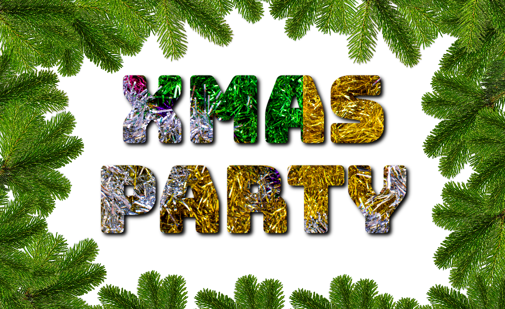 free online text generator Christmas Party Tinsel Text